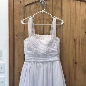 Wedding dress - never been worn - custom made
